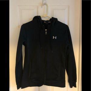 Under armor zip black hoodie JUST LIKE NEW small